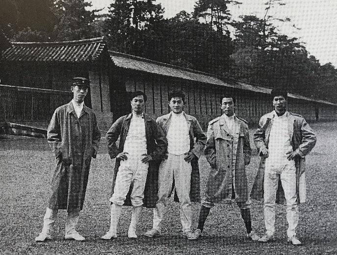 1959年、立命定期戦、京都御所にて