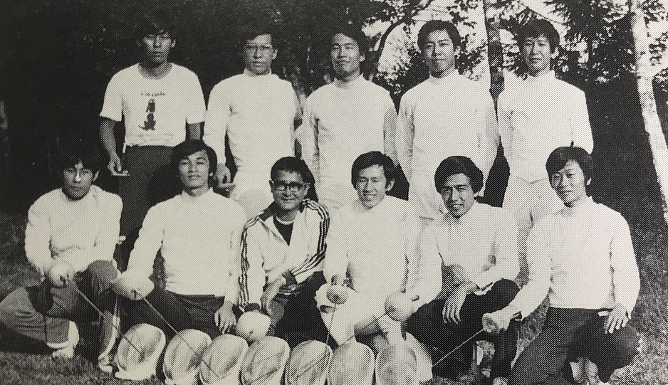 1974年、菅平での夏合宿にて。部員10人のうち経験者はたった2人だった。