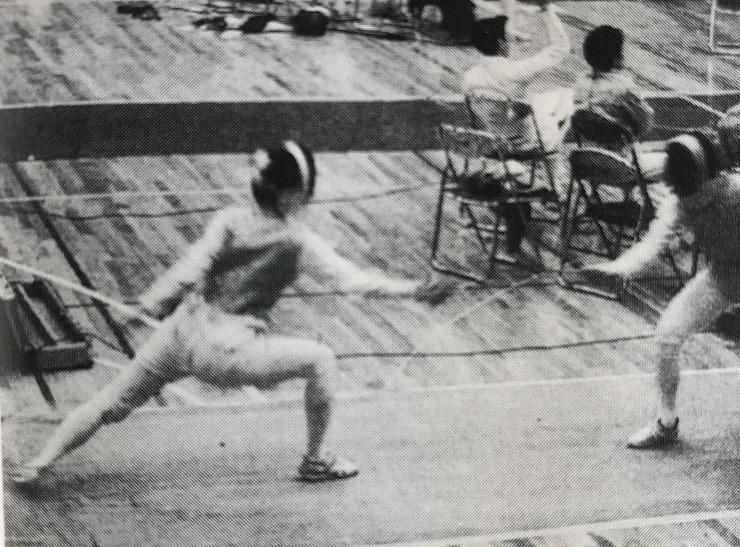 1993年、女子3部昇格の原動力となった田中奈々絵(左)