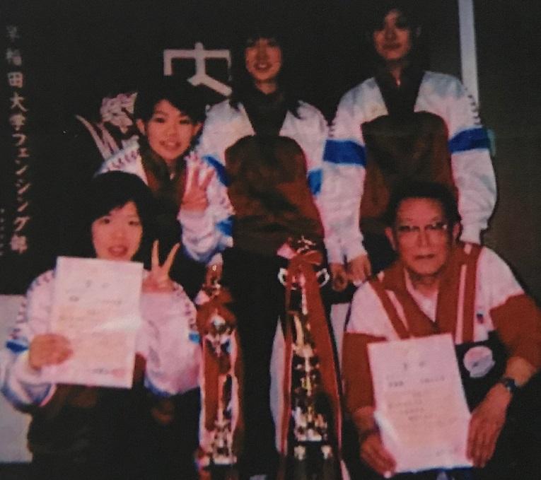 2005年、大学王座決定戦で女子はフルーレ優勝、 エペ準優勝を成し遂げた