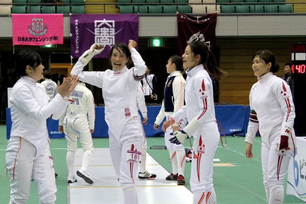 2016年、リーグ戦、王座、インカレ、全日本を制した女子エペメンバー