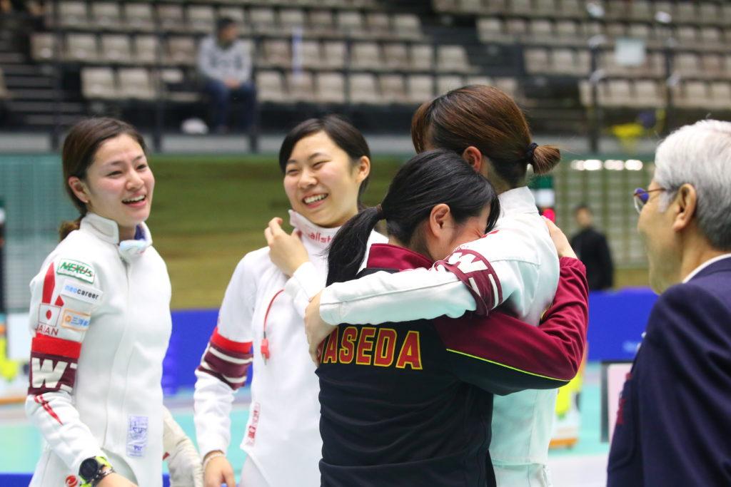 2017年、全日本女子エペ団体優勝